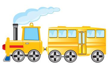 Locomotive with coach