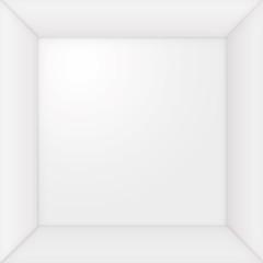 leerer Bilderrahmen, weiß, Quadrat, Freisteller