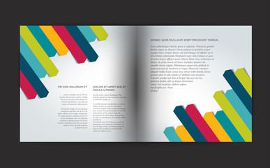Brochure design template. Tri-fold document.