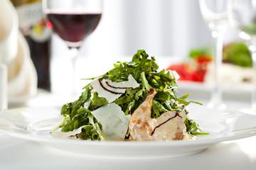 Quail Wings Salad