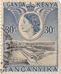 """Kenyan postage stamp """"Tanganyika"""""""