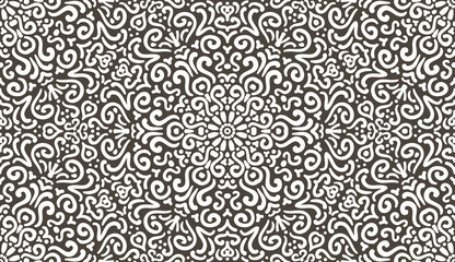 Intricate fantasy contrast seamless pattern