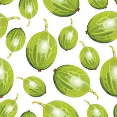 Green gooseberries pattern seamless