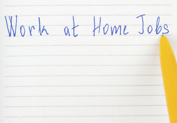 Work at home jobs on page