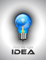 Idea high quality lamp Icon to use for branstorming concept
