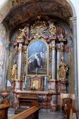 Altar of St John of God in Barmherzigenkirche in Graz, Austria