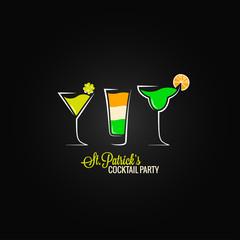 Patrick day cocktail design background