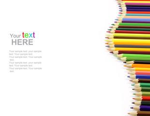 Color Pencils with copyspace
