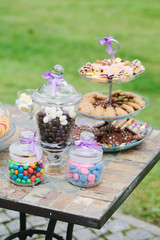 wedding table with candies