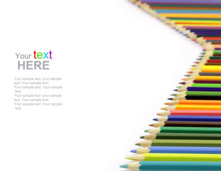 Colorful Pencils with copyspace