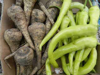 Green hot pepper and parsnip