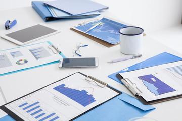 Blue office image