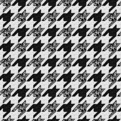 Seamless classic fabric houndstooth, pied-de-poule  pattern