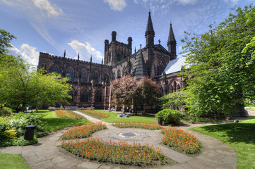 Chester Cathedral Gardens, UK Fotomurales