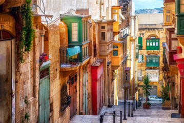 Street of Valletta town