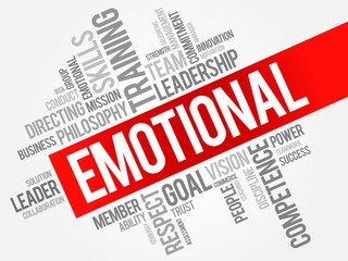 EMOTIONAL word cloud, business concept