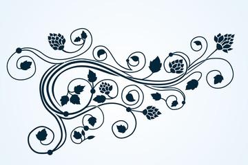 Vector flora curlyl ornament