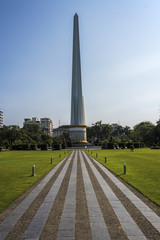 The independence monument Yangon