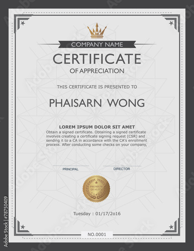 Certificate Template And Element Stock Image And Royalty Free