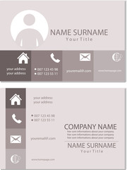 Visitenkarte Design Vorlage