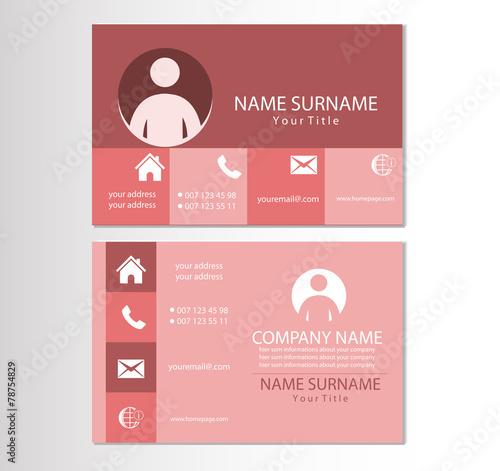 Visitenkarten Design Vorlagen   Visitenkarte Design Vorlage Stockfotos Und Lizenzfreie Vektoren Auf