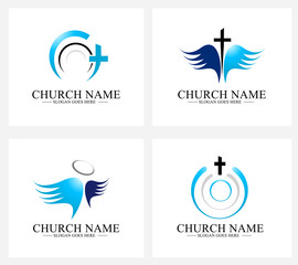 Church Logo Design Set. Creative Church / Christian Icon Design.