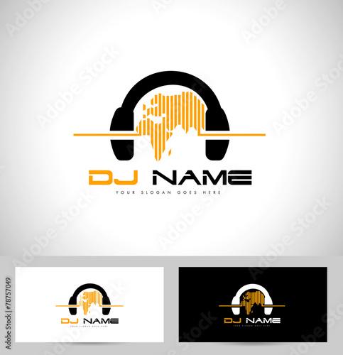 """""""Dj Logo Design. Creative vector logo design with ..."""
