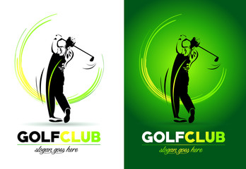 Golf Logo Vector Concept