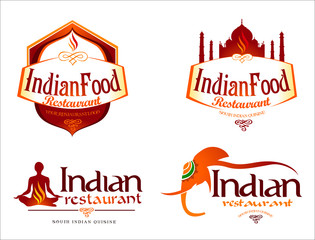 Indian Food Logo. Creative restaurant logo vector template