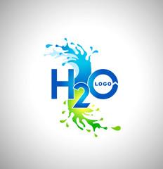Water Logo Design. Creative water splash logo