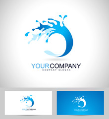 Water Logo Design. Creative vector logo of a water splash