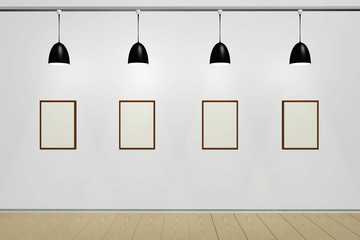 Rooms with lamps and blank wall image