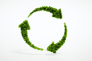 Eco sustainable development sign.