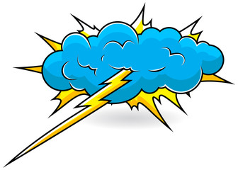 Comic Explosion Cloud Vector Illustration