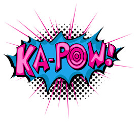 Ka-Pow - Comic Expression Vector Text