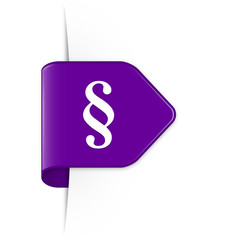 Paragraph - Purple Arrow Sticker with Shadow