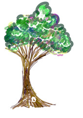 tree painting icon