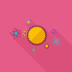 Flat Comic Speech Bubbl. Retro Logo