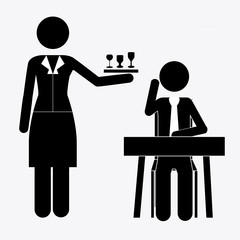 Waiter design, vector illustration