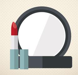 make up design, vector ilustration