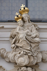 Virgin Mary with baby Jesus, Mariahilf church in Graz, Austria