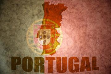 vintage portugal map