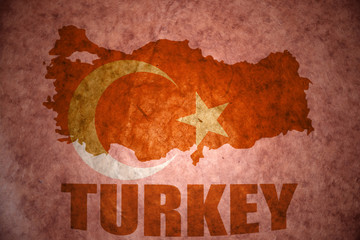 vintage turkey map