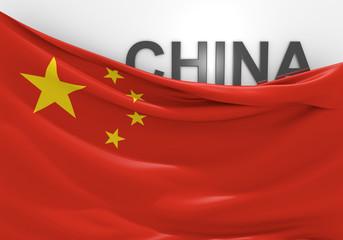 China flag and country name