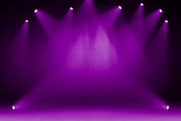 Wall Mural - Purple stage light background