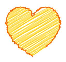 Scribble Lines Heart Design