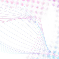 Bright modern swoosh line modeling abstraction
