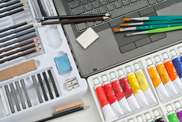 Artist Tools and Materials - Image Editing Concept