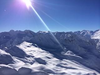 Obergurgl Sonne Schnee