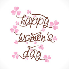 happy women's day greeting design vector